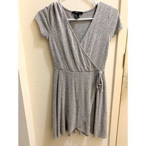 Grey Wrap Dress